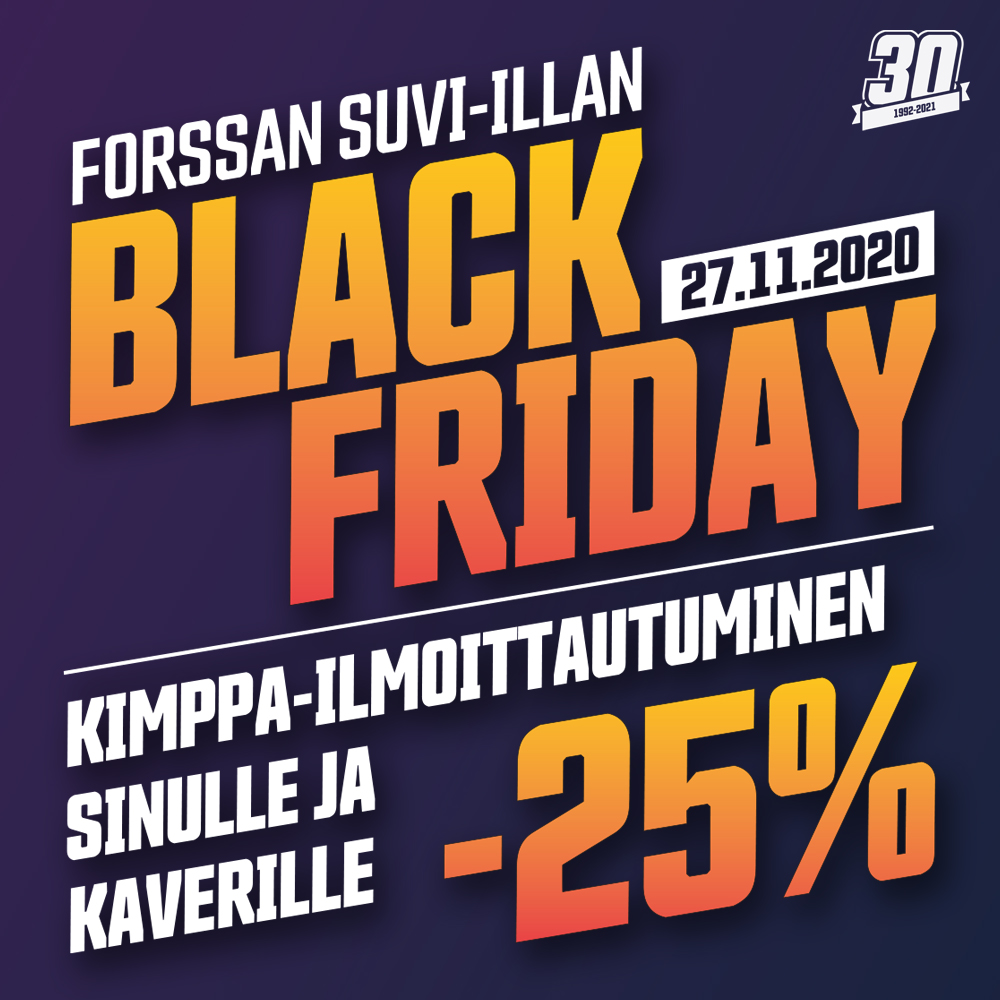 Forssan Suvi-illan Black Friday